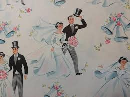 wedding wrapping paper vintage wrapping paper wedding groom 1960s 2233874 weddbook