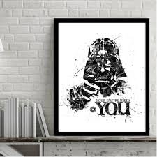 compare prices on star wars darth vader painting canvas online