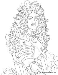 king louis xiv the sun king coloring pages hellokids com