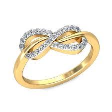engagement ring gold infinity design diamond engagement ring in yellow gold