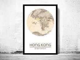 printable maps hong kong hong kong city poster city map poster print old maps and