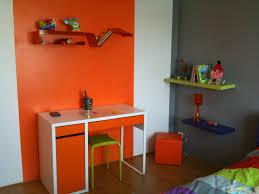 d oration chambre enfants chambre orange et bleu mobilier décoration