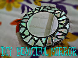 diy mirror art out of waste makeup mirror or wall art mirror