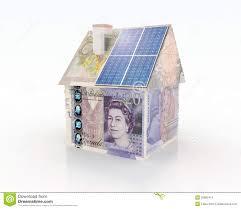 Financiering Financiering Voor Photovoltaic Systeem Stock Afbeeldingen
