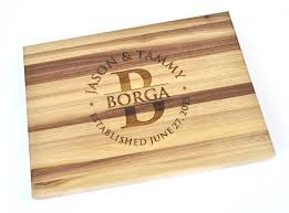 personalized monogram butcher block cutting board laser zoom