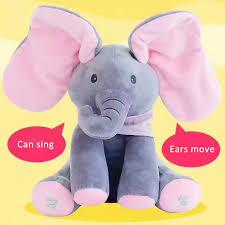Singing Stuffed Animals Fashion Children Baby Singing Plush Elephant