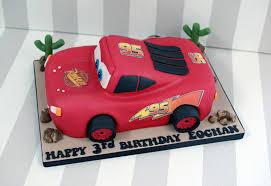 lightning mcqueen birthday cake 3d lightning mcqueen car birthday cake bakealous
