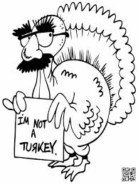thanksgiving coloring page i u0027m no turkey dialect zone