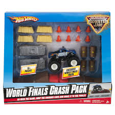 amazon com wheels monster jam world finals crash pack toys