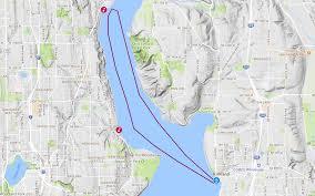 Map Of Lake Washington by Christmas Ship Festival Argosy Cruises