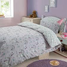 Unicorn Bed Set Magical Unicorns Duvet Cover Pillow Bedding Set