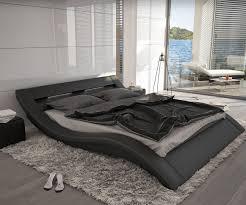designer betten kaufen bett leonas schwarz 140x200cm design polsterbett mit beleuchtung