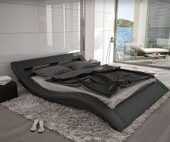 design bett bett leonas schwarz 140x200cm design polsterbett mit beleuchtung