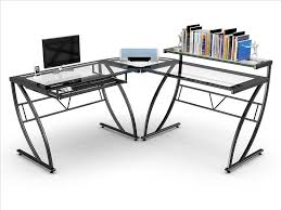corner gaming computer desk throughout z line belaire glass desk