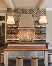 kitchen with brick backsplash kitchen with brick backsplash cottage kitchen
