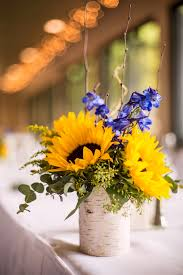 Sunflower Centerpiece Church Wedding Photographer Boulder Louisville Co