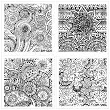 bundle monster 10 pc abstract mandala flowers nail art stamping