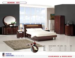 Wenge Bedroom Furniture B65 Modern Wenge High Gloss Size Bedroom Set Pn Furniture