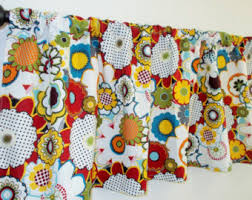 Red Kitchen Curtains And Valances by Red Valance Etsy