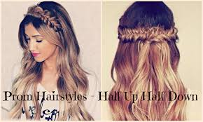 hair trends for long hair 2016 half up half down prom hairstyles youtube