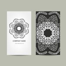 ornament floral business cards vector set 07 vector business free