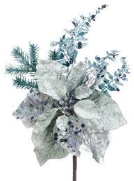 silk plants direct glitter poinsettia pack of 12