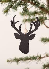 scandinavian christmas ornament leather reindeer black noorverk com