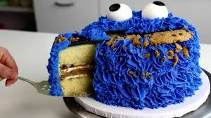 cookie monster cake made with cookies youtube
