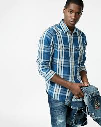 men u0027s casual shirts shop plaid denim u0026 long sleeve casual shirts