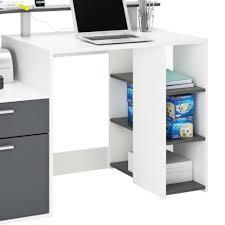bureau etagere pas cher bureau informatique 1 tiroir 1 porte et 1 étagère en chêne brossé
