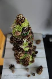 pinecone decorative tree trim the tree blog hop anything