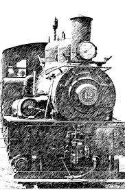 steam engine pencil sketch photograph by randy harris