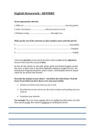 adverbs worksheet nice homework by lathburg teaching resources