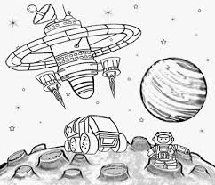 coloring pages u003e space u003e astronauts at the space station for space