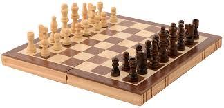 Amazon Chess Set Amazon Com Kangaroo U0027s Folding Wooden Chess Set With Magnet