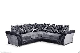 Cheap Corner Sofa Bed Uk Shannon Corner Sofa Black And Grey Free Delivery