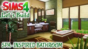 inspired bathroom sims 4 let s build spa inspired bathroom