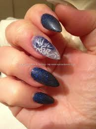 eye candy nails u0026 training embedded blue design from a napkin