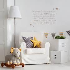 Nursery Rhyme Wall Decals Twinkle Twinkle Nursery Rhyme Wall Sticker By Leonora Hammond