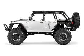 custom jeep white axial scx10 rc jeep jk rtr custom truck creations