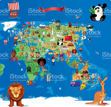 Map Of Asia And Africa by Cartoon Map Of Asia Stock Vector Art 472380295 Istock