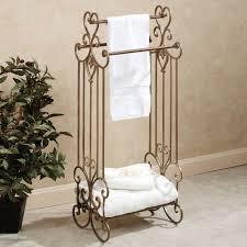 Bathroom Towel Rack Ideas Bathroom Towel Bar With Shelf Towel Holder Brushed Nickel