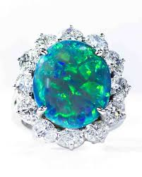 dark blue opal opal engagement rings that are oh so dreamy martha stewart weddings