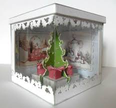 76 best cards christmas exploding box images on pinterest