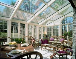 furniture inspiring glass roof and window treatment with sunroom