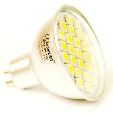 mr16 12v led bulb 5 5w with 27 x 5050 smd leds in cool white