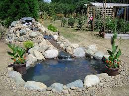 Patio Pond Ideas Pueblosinfronterasus - Backyard pond designs small