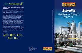 solvalitt heat resistant coatings colour card by jotun paints