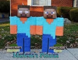minecraft pinata minecraft pinata steve or herobrine ebay