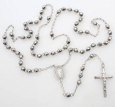 white rosary 14k white gold rosary ebay